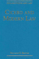 Cicero and Modern Law - Seite xlii