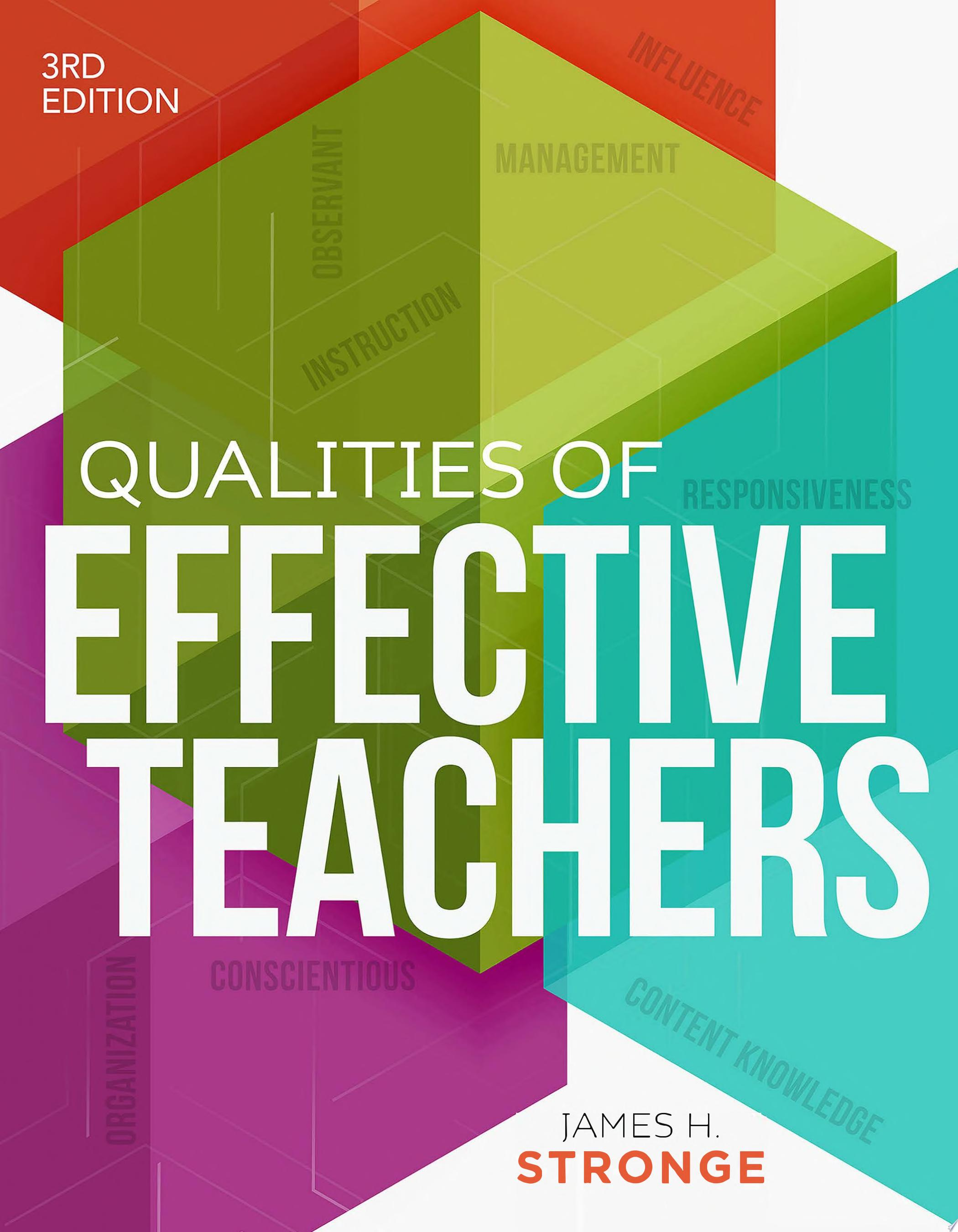 Qualities of Effective Teachers  3rd Edition