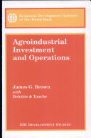 Agroindustrial Investment and Operations