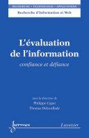 L   valuation de l information    Confiance et d  fiance