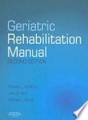 Geriatric Rehabilitation Manual Book PDF