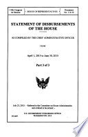 Statement of Disbursements of the House as Compiled by the Chief Administrative Officer from ...