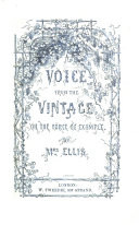 A voice from the vintage  or the force of example   A temperance tale