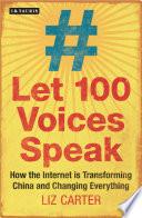 Let 100 Voices Speak Book