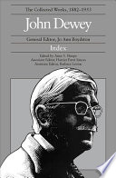 The Collected Works Of John Dewey Index Book