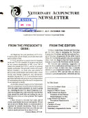 Veterinary Acupuncture Newsletter