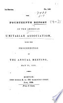 The Reports of the American Unitarian Association  Prepared for the     Anniversary