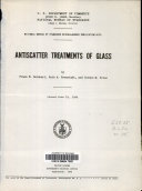 Antiscatter Treatments of Glass