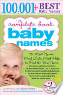 """The Complete Book of Baby Names"" by Lesley Bolton"