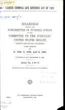 Career Criminal Life Sentence Act of 1981