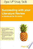Succeeding With Your Literature Review  A Handbook For Students Book