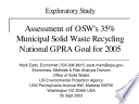 Assessment of OSW's 35% municipal solid waste recycling national GPRA goal for 2005