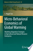 Micro Behavioral Economics of Global Warming Book