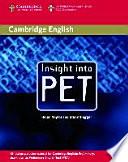 Insight Into PET. Student's Book. Lower Intermediate
