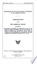 Proceedings of the 87th National Convention of the American Legion