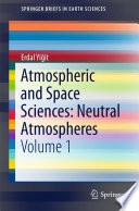 Atmospheric and Space Sciences  Neutral Atmospheres
