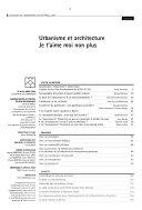 Les Cahiers de l'urbanisme