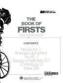 The Book of Firsts Book