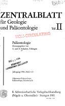 Zentralblatt f  r Geologie und Pal  ontologie