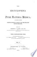 The Encyclopedia of pure materia medica v  5  1877