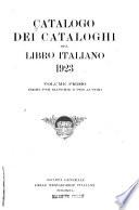 Catalogo dei cataloghi del libro italiano