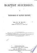 Baptist Succession Book PDF