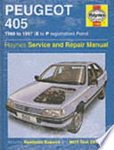 Peugeot 405 Petrol Service & Repair Manual
