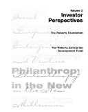 Social Purpose Enterprises And Venture Philanthropy In The New Millennium