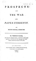 Prospects on the War and Paper Currency