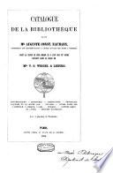 Catalogue de la Bibliothèque de feu Mr A. C. Naumann ... avec 4 planches de Facsimiles. L.P.