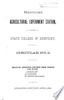 Circular   University of Kentucky  College of Agriculture  Cooperative Extension Service