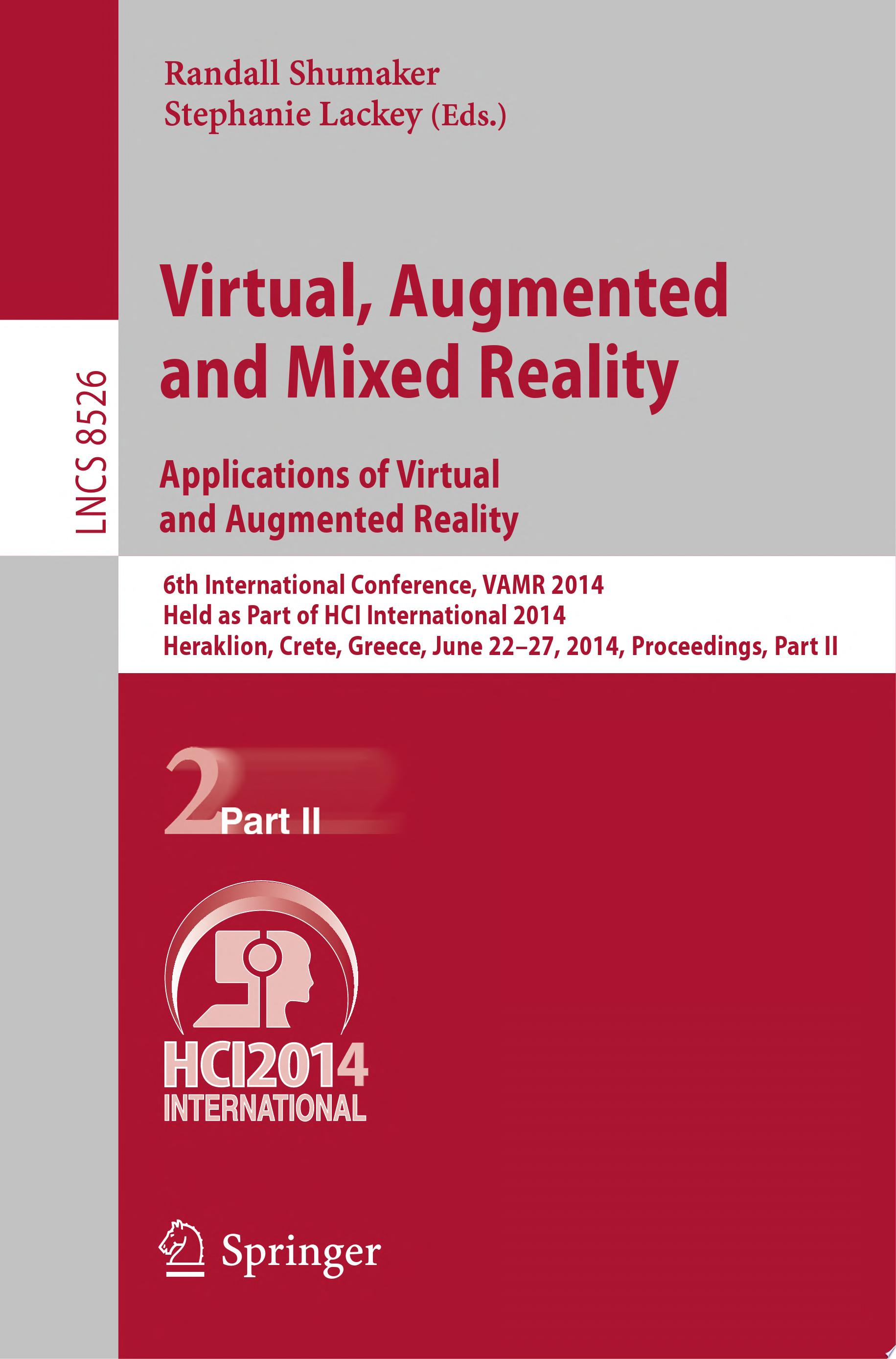 Virtual  Augmented and Mixed Reality  Applications of Virtual and Augmented Reality