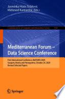 Mediterranean Forum     Data Science Conference Book