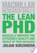 """The Lean PhD"" by Julian Kirchherr"