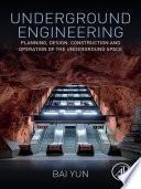 Underground Engineering Book