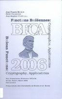 Boolean Functions  Cryptography and Applications