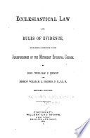 Ecclesiastical Law and the Rules of Evidence