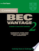 Cambridge BEC Vantage 2 Student's Book with Answers