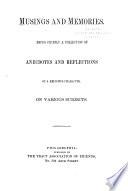 Musings and Memories Book PDF