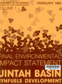 Final Environmental Impact Statement on the Uintah Basin Synfuels Development