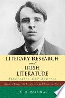 Literary Research And Irish Literature