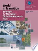 Strategies for Managing Global Environmental Risks Book