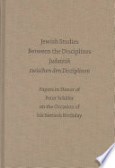 Jewish Studies Between the Disciplines