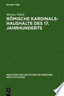 Römische Kardinalshaushalte des 17. Jahrhunderts