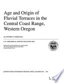 Age and Origin of Fluvial Terraces in the Central Coast Range  Western Oregon