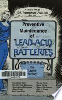 Preventive Maintenance of Lead acid Batteries