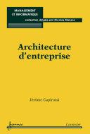 Pdf Architecture d'entreprise Telecharger