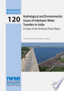 Hydrological And Environmental Issues Of Interbasin Water Transfers In India A Case Of The Krishna River Basin Book PDF