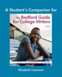 The Student's Companion for The Bedford Guide for College Writers