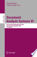 Document Analysis Systems Vi